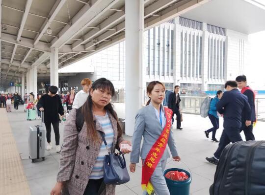 南昌向远轨道技术学校2020年春运服务志愿者